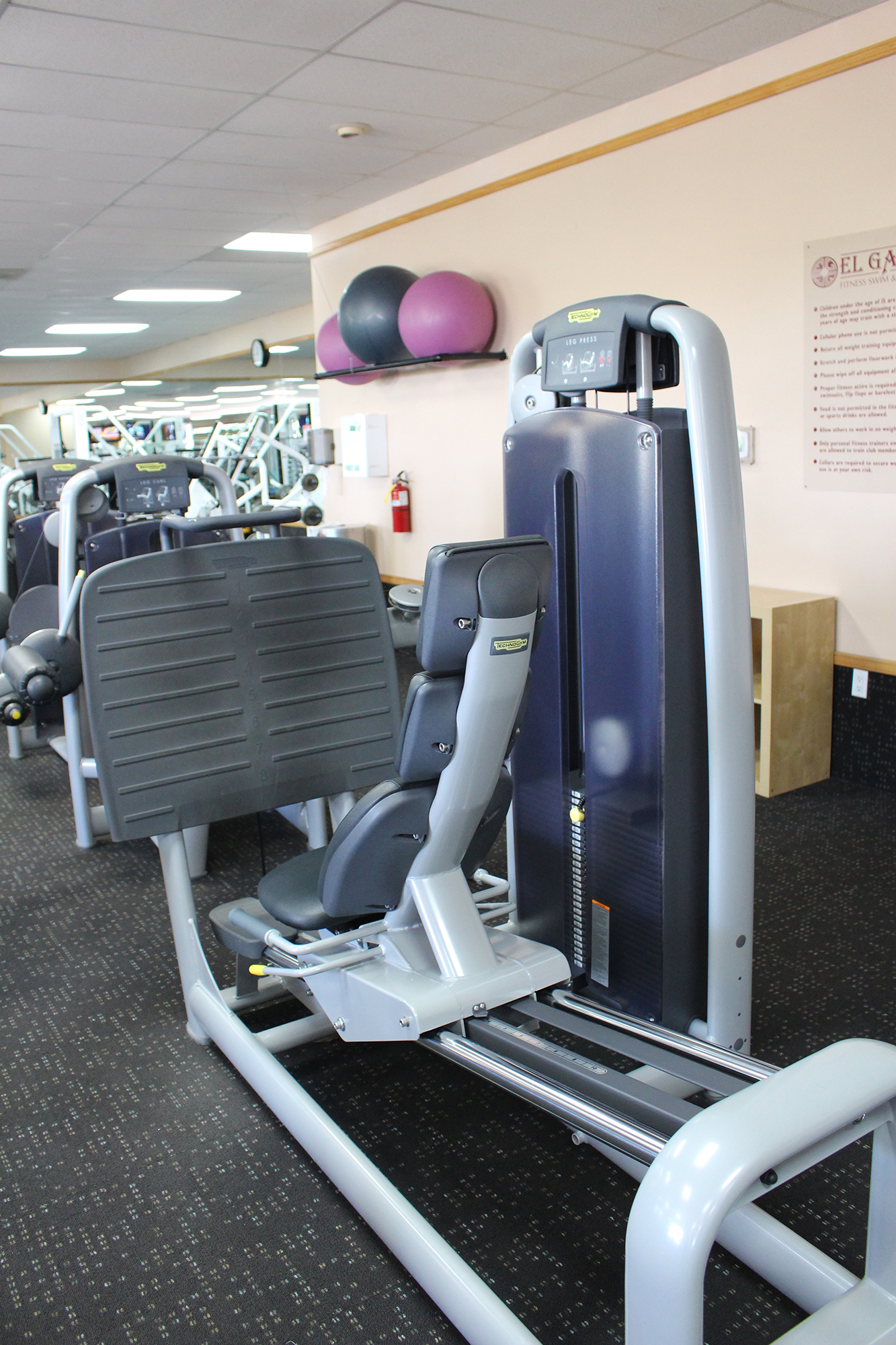 Gym facilities leg press santa fe
